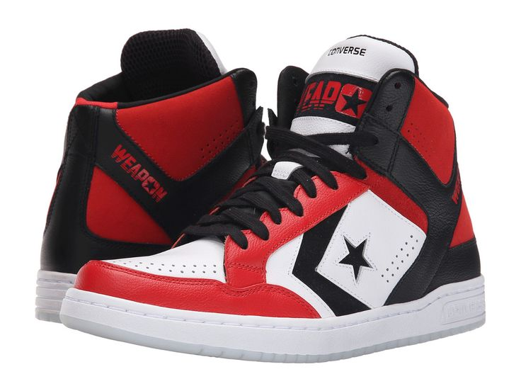 CONVERSE WEAPON MID 86 Mens 11 Black Red 150527C Vintage NEW #Converse #Athletic