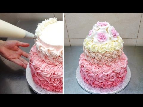 Cake Decorating Timeline Buttercream : Buttercream Cake Decorating Tip. Easy and Fast Technique by CakesStepbyStep. - YouTube Cakes ...