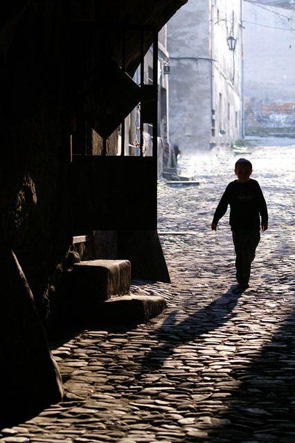 Paniewicza Street, Old Town in Bielsko-Biala, Poland
