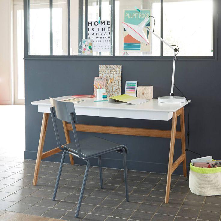 Bureau 3 Suisses, promo bureau pas cher, achat Bureau 2 tiroirs bicolore prix promo 3Suisses 299.00 € TTC