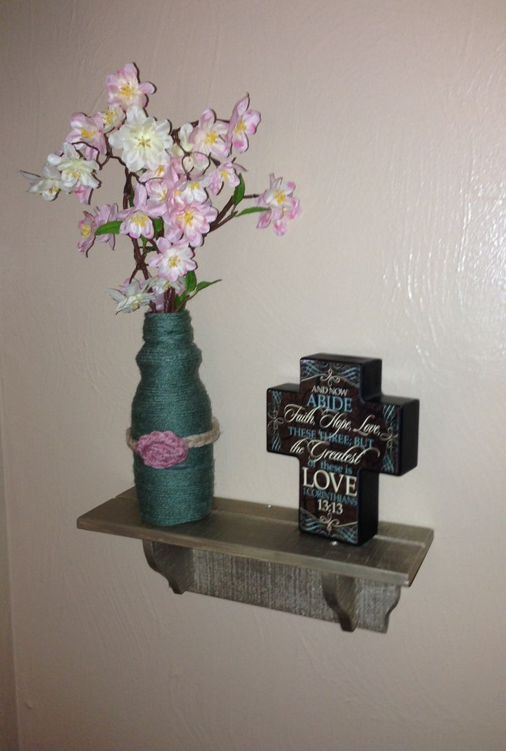 Hobby lobby coupon 40 off entire purchase -  Metallic Taupe Painted Shelf 0 50 At A Garage Sale Plus The Paint I Already Had And A Pretty Cross From Hobby Lobby With A 40 Off Coupon Total