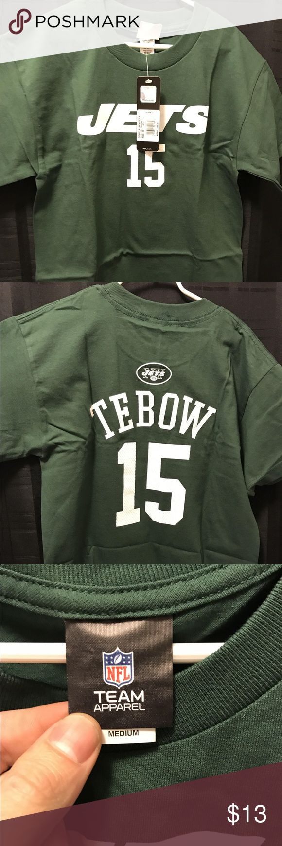 NFL apparel ny jets tim tebow tee shirt new w/tags This shirt is new with tags nfl apparel Shirts & Tops Tees - Short Sleeve
