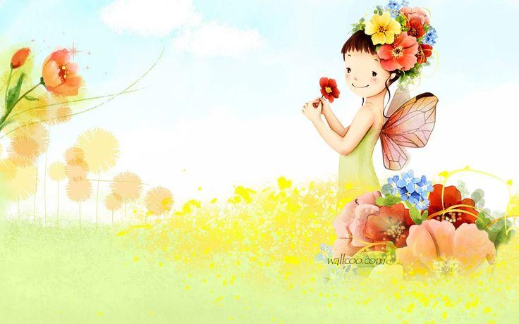 Kim Jong Bok Illustration (Vol.03) - Cartoon Cute Fairy Girl