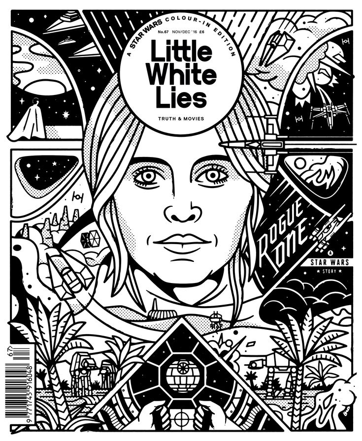 Cover art for the Rogue One issue of Little White Lies.