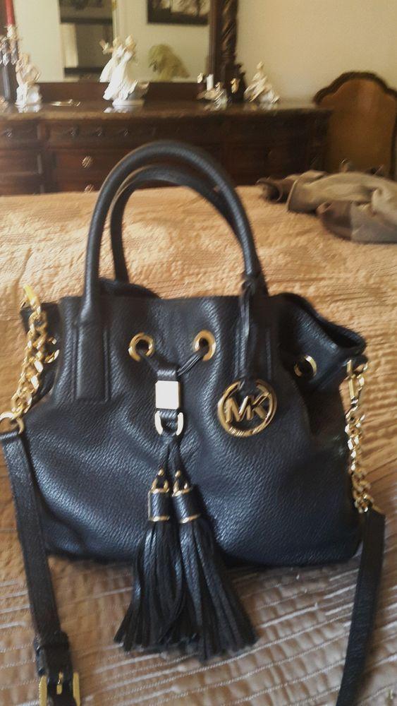 b1ce35e13803 358 Michael Kors Camden Medium Black Leather Gold Satchel  fashion   clothing  shoes  accessories  womensbagshandbags (ebay link)