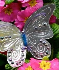 Outdoor Butterfly Mobile ~ Be Different...Act Normal