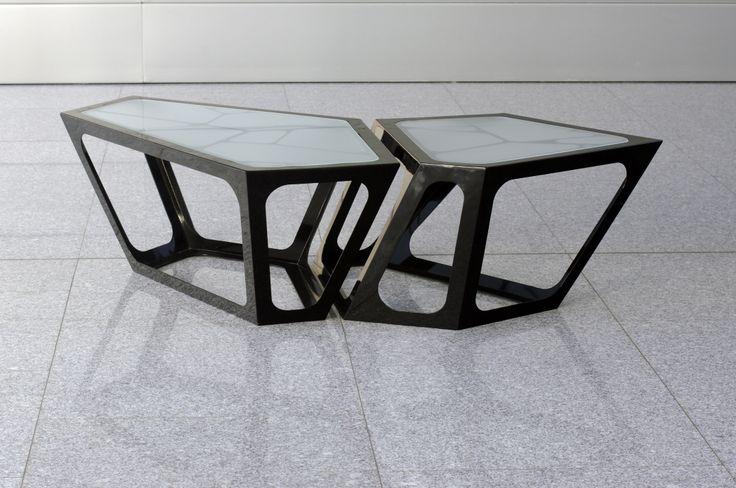 Simplexio Primo - coffee table 2 cells black www.simplexio.ro