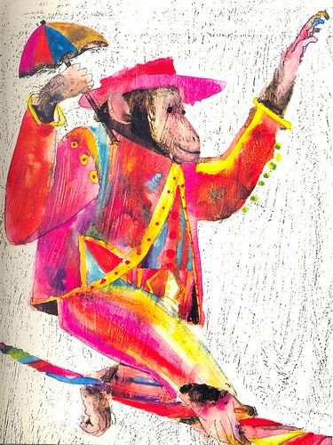 brian wildsmith: circus monkey ** I have the book this illustration comes from and its beautiful.