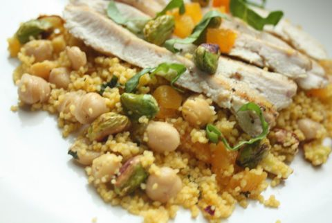 Saffron couscous with pistachios, dried apricots, zucchini- Light Summer Dinner Recipes - Ideas for Summer Meals
