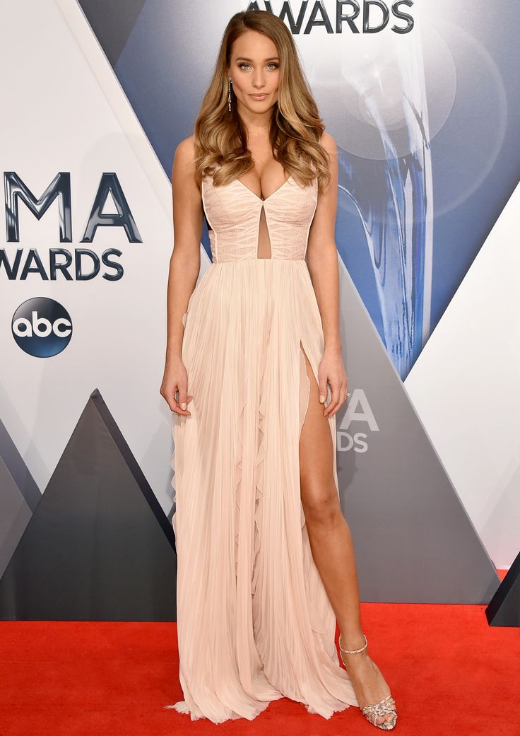 Hannah Davis Shows Off Her Stunning Engagement Ring on the CMA Awards Red Carpet  from InStyle.com