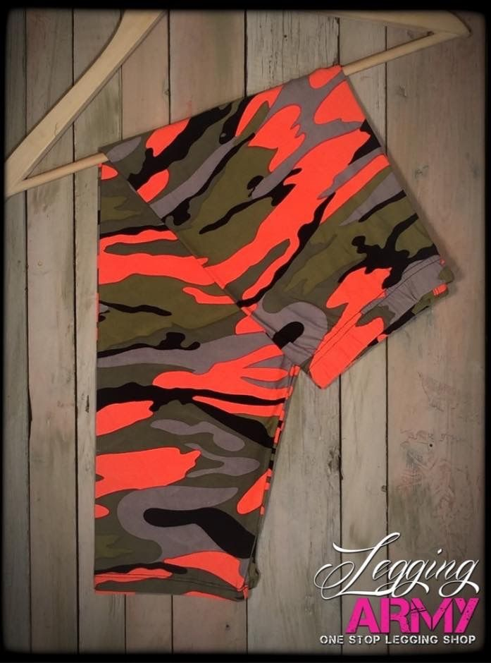 #Camouflage #leggings! Take a look at these awesome #bright colored leggings! They are awesome and #super #soft! Find them and the other #camo designs at http://leggingarmy.com/#cate123 or find our Facebook page @leggingarmywithcate