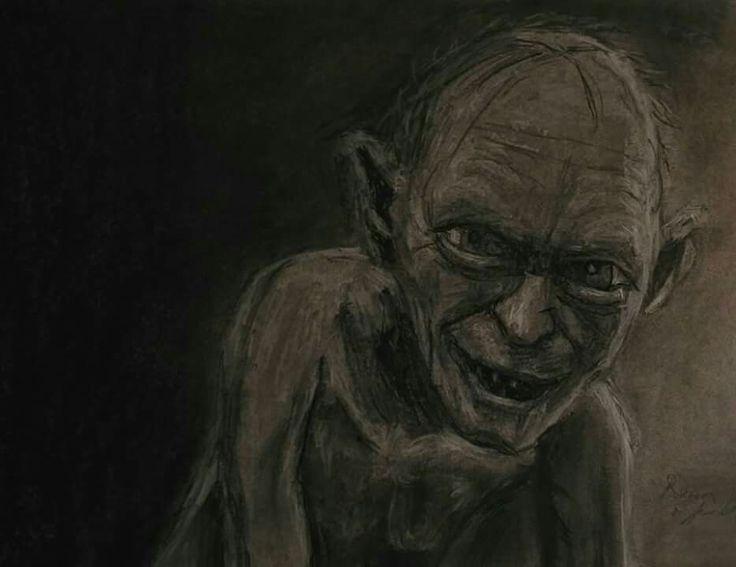 Gollum charcoal