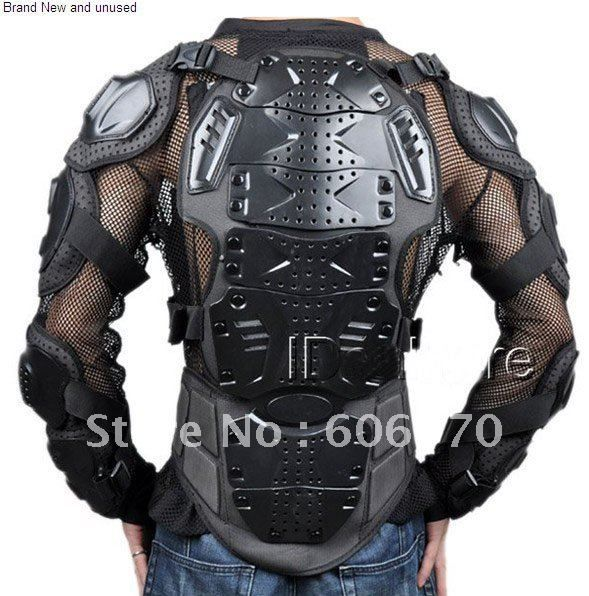 Vente en gros 100% brand new style moto full body armor racing veste noire
