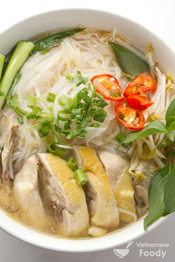 While Vietnamese Beef Noodle Soup (Pho Bo) may be the version that most people know and like, Vietnamese Chicken Noodle Soup (Pho Ga) is also excellent.