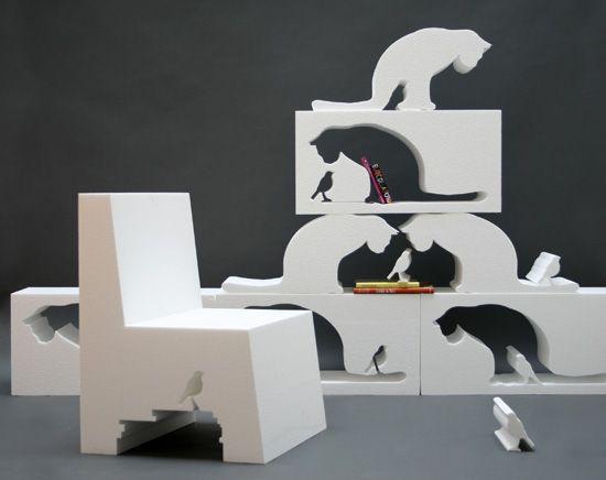We call this... catshelf.     #RandomHouseBooks