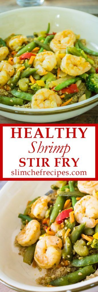 Healthy shrimp stir fry recipe - This recipe is very simple with only a few ingredients. The taste is amazing and yet it is very low in calories, carbs,…