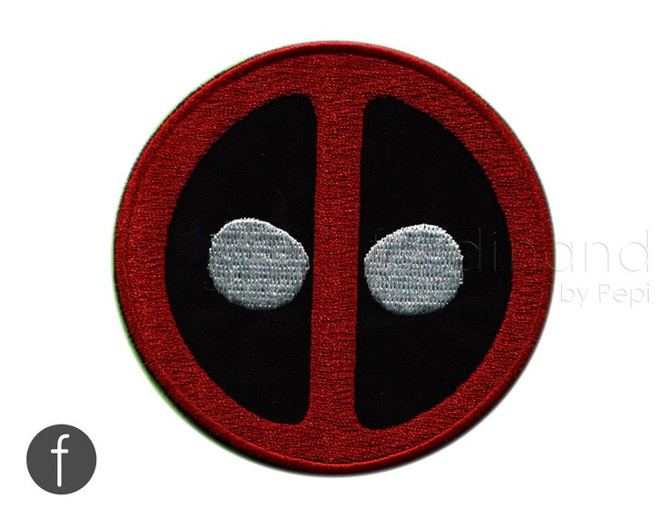 deadpool emblem Iron On Patch by FerdinandWorks on Etsy https://www.etsy.com/listing/462431872/deadpool-emblem-iron-on-patch