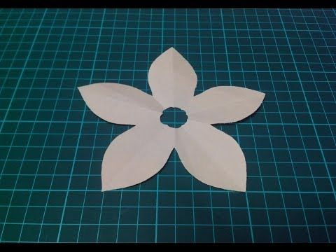 How to make a KIRIGAMI paper blossom flower - 3