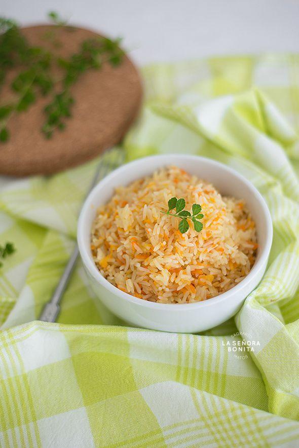 Arroz Pilaf con Zanahoria/ Carrot Pilaf Rice