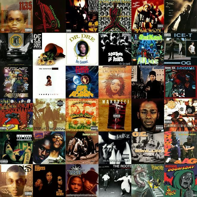 top hip hop albums 1990s