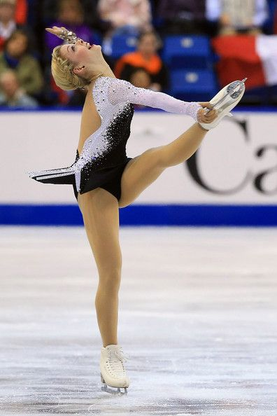 Gracie Gold of the United States during the ladies short program at the ISU GP 2013 Skate Canada International