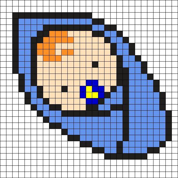Baby Boy Perler Bead Pattern