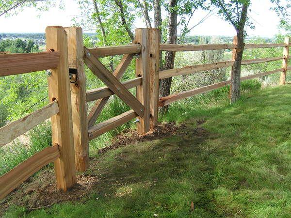 Fencing | Split Cedar Fences @ Parma Post and Pole
