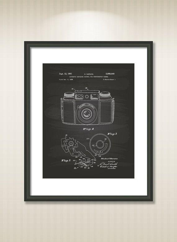 Automatic Exposure 1961 Patent Art Illustration  by TawerArt