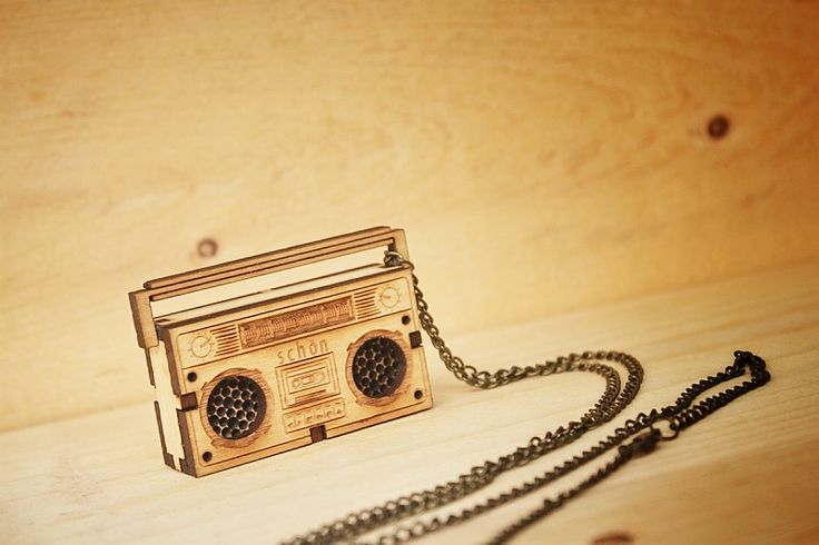 """Another babee """"Wooden Radio Puzzle"""" #neclace #wood #radio #gift #lasercutting #gift"""
