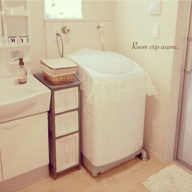洗濯機周り/生活雑貨/クロッシェレース/ナチュラル/バス/トイレのインテリア実例 - 2015-04-24 15:28:14 | RoomClip(ルームクリップ)