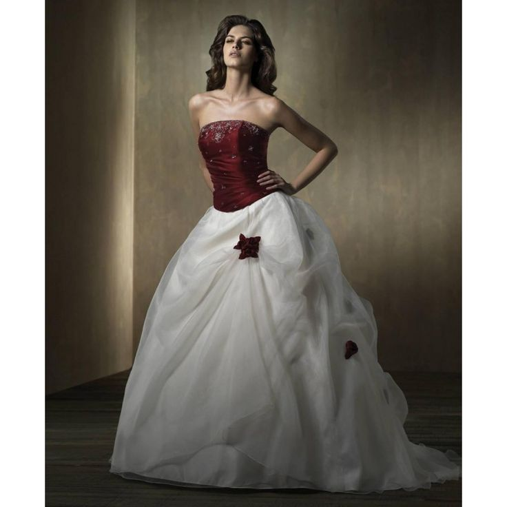 10 Best images about RED   WHITE wedding dresses on Pinterest ...