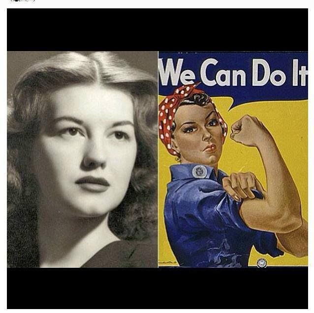 The real Rosie the Riverter! A young 17 year old Geraldine Doyle was the inspiration for the famous poster!!