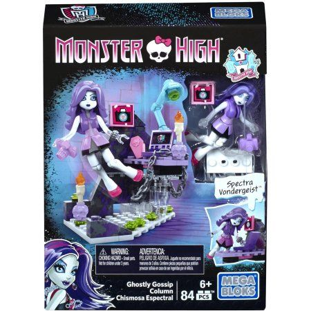 Mega Blocks by Monster High Ghostly Gossip Column, Multicolor