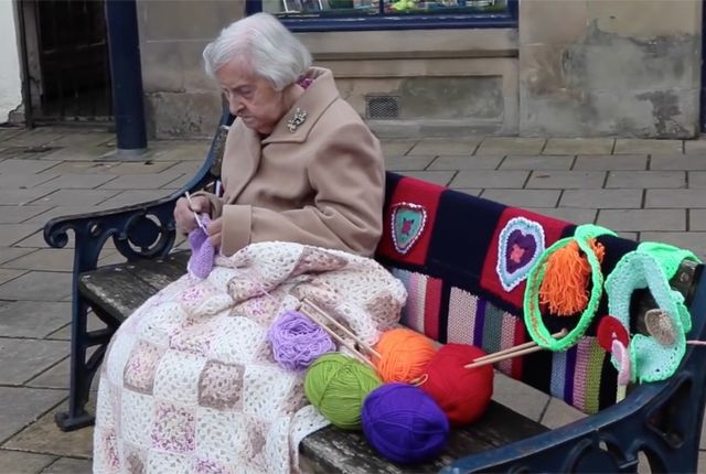 The 104-Year-Old Street Artist Who Yarn-Bombed Her Town