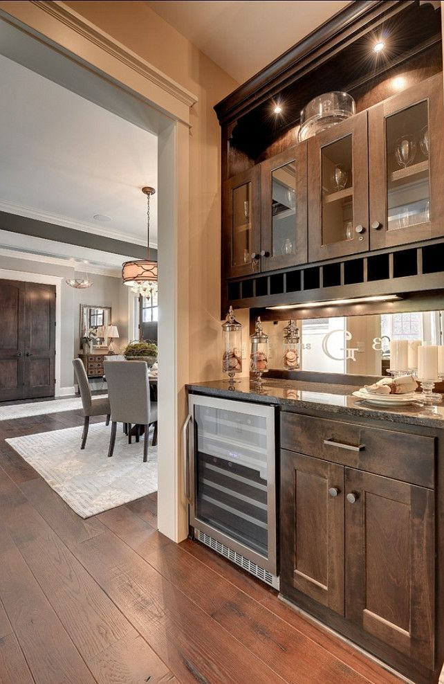 This butler's Pantry is small but very practical. I love the floors!