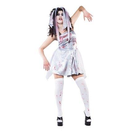 Bloody Zombie bruid | Halloween kleding | GOEDKOPE THEMAKLEDING - VERKLEEDKLEDING - CARNAVALSKLEDING - KOSTUUMS