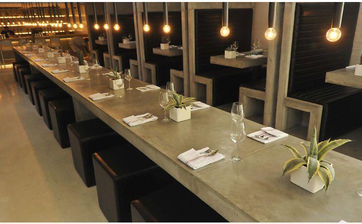Restaurant table concrete