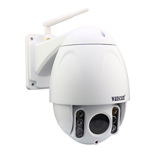 wanscam metal ptz ip dome camera outdoor full hd pantilt plugplay wifi webcam with
