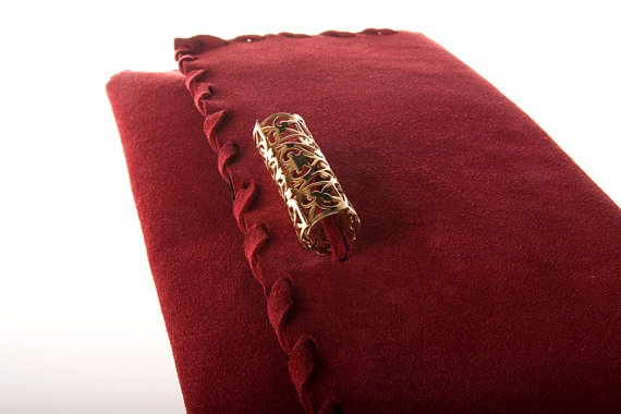 red suede leather clutch bag by ElenLovelyCollection on Etsy, €45.00