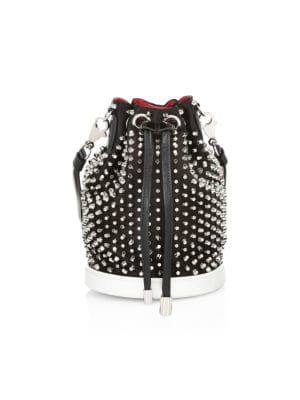 8a07d74fab11 Christian Louboutin - Marie Jane Studded Bucket Bag