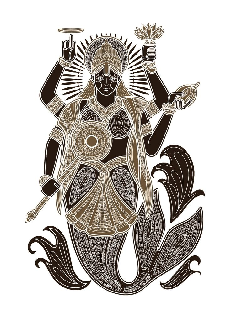 Matysa (the fish), a silkscreen print by Poonam Mistry.