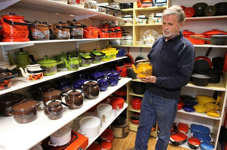 Veli Koski has the largest collection of Finel enamel in Finland.