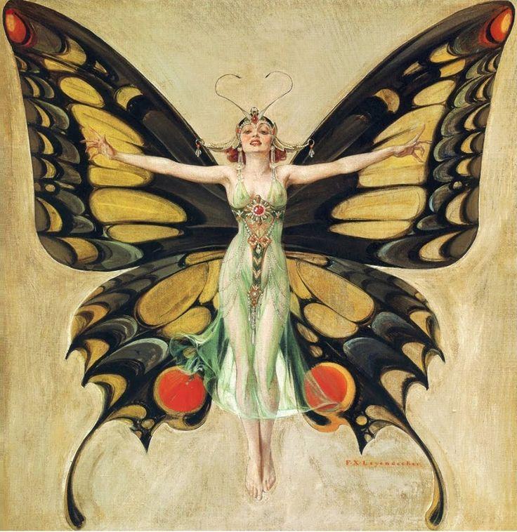Art Deco Butterfly Woman Www Butterflyworkshops Com