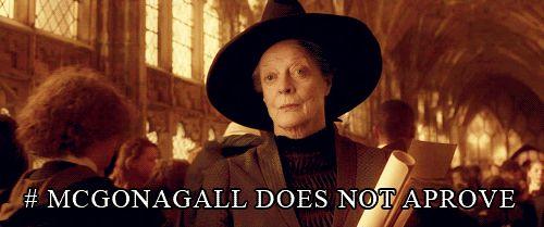 Bildresultat för mcgonagall does not approve