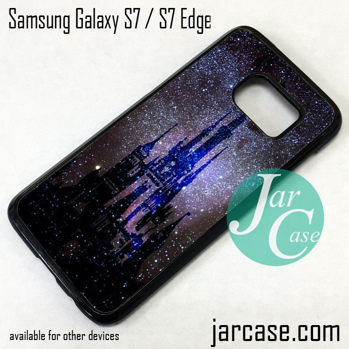 new concept ba860 228fb Disney Castle At Night Phone Case for Samsung Galaxy S7 & S7 Edge ...