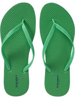 Womens Classic Flip-Flops - Walk The Lime