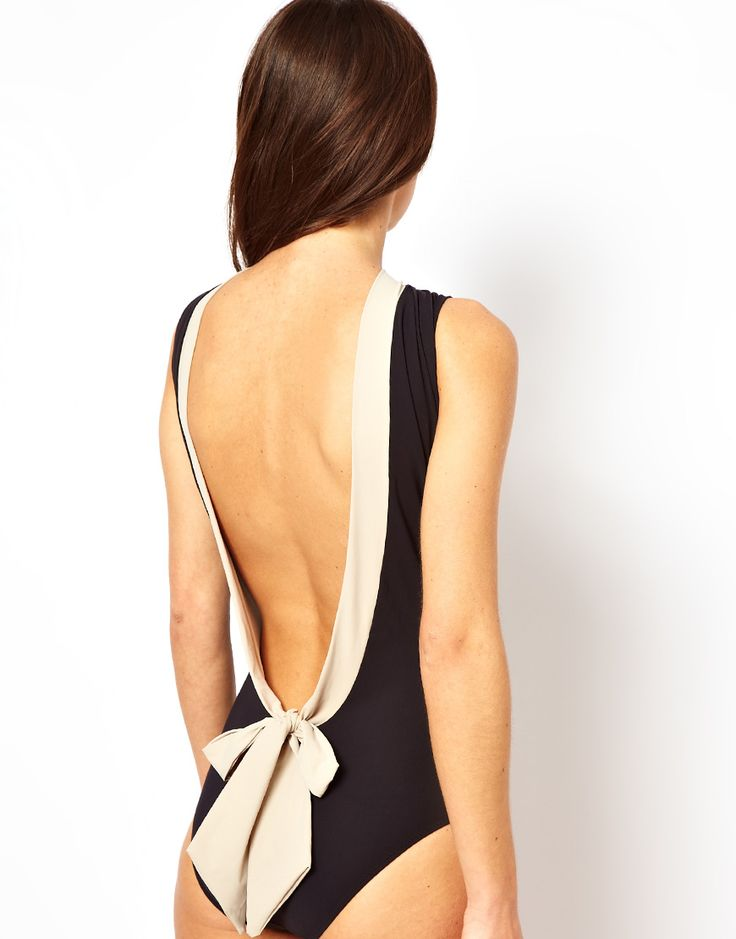 Mouille Adele One Piece Swimsuit | Not too sure if I like the front but the back is really stunning.