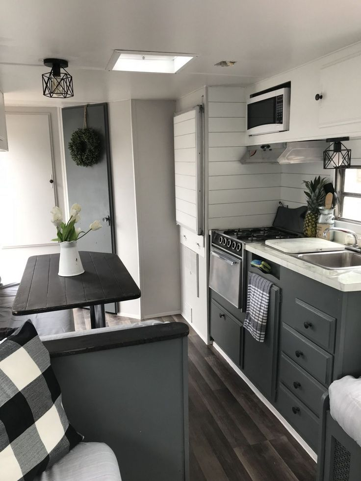 Farmhouse Camper Remodel Ideas Ready To Happy Camper 47 Vyex Home Glamper Camper Remodeled Campers Camper Trailer Remodel