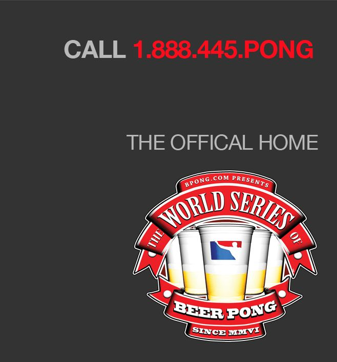 WE ARE BEER PONG. Home of the World Series of Beer Pong and BPONG™ Brand Products like our amazing beer pong tables. BPONG is the number one place for all your