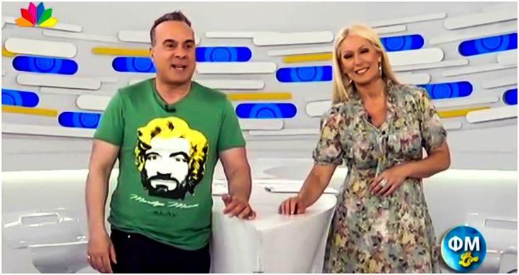Fotis Sergoulopoulos wearing πλAy  #πλAy #play #playshirts #tshirt #fotis #sergoulopoulos #fmlive #fm #f+m #live #tv #marilyn #manson #monroe #charles #pop #art #andy #warhol #color #street